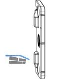 MACO Anpressverschluss verdeckt, Rahmenteil, Eurofalz FT20 9V (98265)