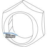 MACO Aufsteckhülse f. 3-flg. Fenster f. Verschlusszapfen (94031)