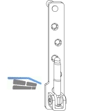 MACO Ecklager 180 kg PVC, 12/20 mm, Tragezapfen 9 mm, silber, links (211870)