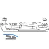 MACO Ecklager 3-flg. Multi Power, PVC FT 30, 13V, links (215833)