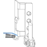 MACO Ecklager AS für Ecklagerbänder mit ÜV, 12/18 mm, links, silber (54691)