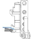 MACO Ecklager DT, 12/18 mm, links, 130 kg, silber (52704)