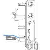 MACO Ecklager DT130, 12/18 mm, links, für Fenstertür, 130 kg, Tricoat (204126)
