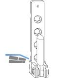 MACO Ecklager PVC, mit 3 mm Positionszapfen, 100 kg, silber (52483)