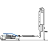 MACO Ecklagerband Multi Power, Versatz  9 mm, 150 kg, links (215807)