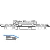 MACO Kippband AS/DT/PVC, einstellbar, 80 kg, L=146 mm (52321)