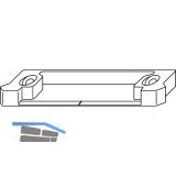 MACO MT Hebeteil, Falzluft 12 mm, Eurofalz 20 mm, 9V, silber (95116)