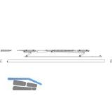 MACO PAS Gleitscheren-Set, Abdeckschiene 13 mm, silber, FFB  750-900 mm, links