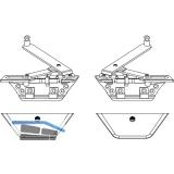MACO SKB-S/SE Grundkarton Gleitscheren, FFB 620-1650 mm, silber (103073)