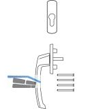 MACO SKB-S/SE/PAS Drehgriff PZ außen, TS 74-90 mm, Alu silber eloxiert