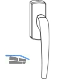 MACO SKB-Z Drehgriff für Kupplungslasche, links, Aluminium silber eloxiert