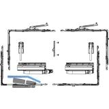 MACO SKB-Z Grundkarton, Schema A, 160 kg, Versatz  9 mm, links, silber (455507)