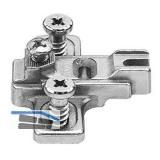 BLUM MODUL Kreuzmontageplatte für Stollenkonstruktion, Distanz 3 mm