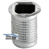 Einbohrbüchse, 14,5 mm, Stahl verzinkt (94219)