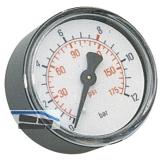 Druckluft Manometer 50 mm 0 - 10 bar mit Außengewinde hinten 1/8\