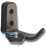 Mantelhaken Amun Breite 57 mm, Höhe 62 mm, Kunststoff braun