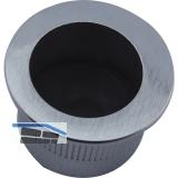 Stirnziehgriff Einlassmaß ø 25 mm, Kunststoff verchromt matt