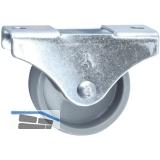 Möbel-Bockrolle 15x14mm, Kunststoff-Rad grau