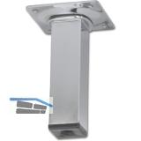 Möbelfuß Quadratrohr 25x25 mm, Länge 100 mm, Stahl schwarz