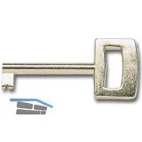SECOTEC Möbelschlüssel für EURO-Einheitssperre vermessingt SB-1