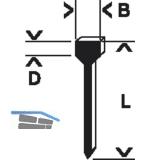 BOSCH Nägel Typ 47 Länge 16 mm Breite 1,8 mm