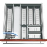 BLUM ORGA-LINE Komplettset für Essbesteck KB 600 mm, Nennlänge 500 mm