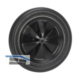 PVC-Rad schwarz mit Rillenprofi 185 x 30 x 12 mm Nabenbreite 35 mm
