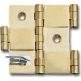 Paravantscharnier 60x26 mm, Holzstärke 20 mm, Messing poliert