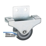 Parkett-Bockrolle 38x18 mm , TPE-Rad grau