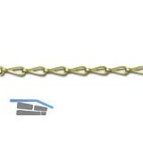 Patentkette Gliedergröße 6 x 20 mm, Messing poliert