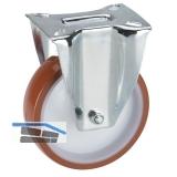 Polyamid-Bockrolle mit Rollenlager 100 x 30 mm/Platte 100 x 85 mm