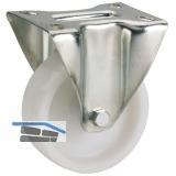 Polyamid-Bockrolle mit Gleitlager  80 x 30 mm/Platte 100 x 85 mm
