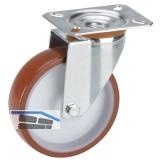 Polyamid-Lenkrolle mit Rollenlager 100 x 30 mm/Platte 100 x 85 mm