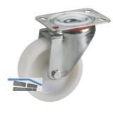 Polyamid-Lenkrolle mit Gleitlager  80 x 30 mm/Platte 100 x 85 mm