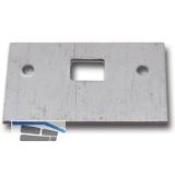 Reparaturschließblech für Einlegstange gerade, 53 x 33 mm, Stahl verzinkt