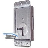 Riegelschloss Einheitssperre 61005 ohne Schlüssel, links, DM 20, Stahl verzinkt