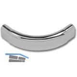 Rohrbogen 90° Spezial Oval Schrankrohr 30 x 15mm, Stahl geschliffen, verchromt