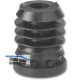 Rohrstopfen für Höhenversteller - mit Sechskantmutter, M10x25, KS schwarz