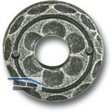 HÖRTNAGL Drückerrosette 50 mm, Ansatz 18 mm, verzinkt schwarz lackiert