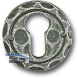 HÖRTNAGL Zylinderrosette PZ, ø 50 mm, Höhe 3 mm, verzinkt schwarz