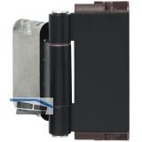Haustürband Easy 3D m. Stiftsicherung, Aluminium schwarz matt