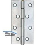 Scharnier DIN 7954 A schmal Rollen ø 4,6 mm, 40 x 26 mm, Stahl verzinkt