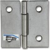 Scharnier DIN 7954 C quadratisch Rollen ø 4,6 mm, 40 x 40 mm,Stahl verzinkt