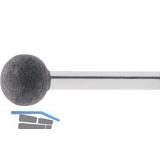 LUKAS Schleifstift weich Normalkorund Form KU Kugel DIN 69170 Kopf ø 25 mm