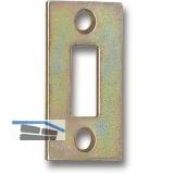 Schließblech für Querriegel 140/180 mm gekröpft, 29 x 7 mm, gelb passiviert
