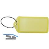 Schlüsselanhänger -  mit Papiereinlage, Kunststoff transparent gelb