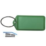 Schlüsselanhänger -  mit Papiereinlage, Kunststoff transparent grün