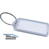 Schlüsselanhänger -  mit Papiereinlage, Kunststoff transparent natur