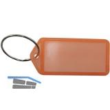 Schlüsselanhänger -  mit Papiereinlage, Kunststoff transparent orange