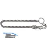 Schlüsselkette - mit Jeans Haken, Länge 460 mm, Stahl vernickelt